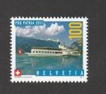 Stamps Switzerland -  Pro Patria, barcos a vapor