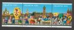 Stamps Switzerland -  100 años del comité de carnaval de Basilea