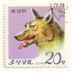 Stamps North Korea -  15 Aniv. del zoo de Pyongyang. Lobo.
