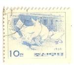 Stamps North Korea -  Pollos de Mangyong.