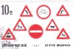Stamps North Korea -  SEÑALES DE TRÁFICO