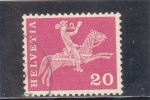 Stamps Switzerland -  CORREO A CABALLO