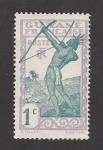 Stamps : America : French_Guiana :  Arquero