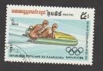 Stamps : Asia : Cambodia :  Juegos Olimpicos de Invierno, Sarajevo 1984