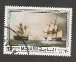 Stamps United Arab Emirates -  Batallas navales