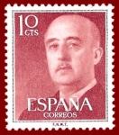 Stamps Europe - Spain -  Edifil 1143 Serie básica Franco 0,10 NUEVO