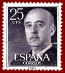 Stamps Europe - Spain -  Edifil 1146 Serie básica Franco 0,25 NUEVO