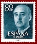 Stamps Europe - Spain -  Edifil 1152 Serie básica Franco 0,80 NUEVO