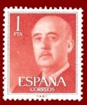 Stamps Europe - Spain -  Edifil 1153 Serie básica Franco 1 NUEVO