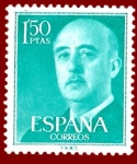 Stamps Europe - Spain -  Edifil 1155 Serie básica Franco 1,50 NUEVO
