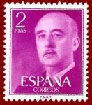 Stamps Europe - Spain -  Edifil 1158 Serie básica Franco 2 NUEVO