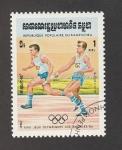 Stamps Cambodia -  Juegos Olimpicos Los Angeles