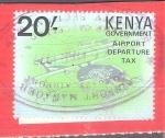 Sellos de Africa - Kenya -  aeropuerto