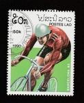 Stamps Laos -  Juegos olímpicos Barcelona 92