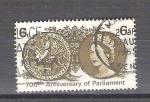Sellos del Mundo : Europa : Reino_Unido : RESERVADO JOAQUIN 700 anv. del parlamento