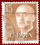 Sellos de Europa - España -  Edifil 1144 Serie general Franco 0,15