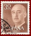 Stamps Spain -  Edifil 1147 Serie general Franco 0,30