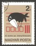 de Europa - Hungría -  2847 - Código Postal