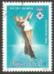 de Europa - Hungría -  2891 - XIV olimpiadas de invierno, Sarajevo 1984