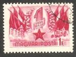de Europa - Hungría -  1155 - Commemoración del 1º de Mayo