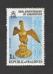 Sellos de Asia - Maldivas -  25 Aniv. de la coronación de ls reina Isabel