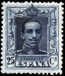 Stamps : Europe : Spain :  sello alfonso XIII tipo vaquer