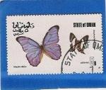 Stamps Asia - Oman -  Mariposas
