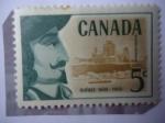 Sellos de America - Canadá -  Samuel de Champlain (1567-1635) Navegante -Provincia de Quebec. 350 Aniversario-Patrimonio de la Hum
