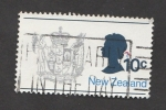 Stamps New Zealand -  Escudo del país