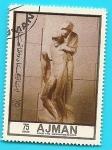 Stamps Asia - United Arab Emirates -  AJMAN - Miguel Angel - La Piedad de Rondanini museo del  Castillo Sforzesco - Milán