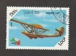 Stamps Laos -  AviónCant z-501