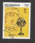 Sellos de America - Nicaragua -  Trayectoria cometa Halley