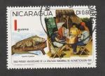 Stamps Nicaragua -  Iguana