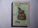 Sellos de America - Nicaragua -  METATE-Piedra de Moler - Colecció:Alberto Arguello Vicas- Antiguedades Nicaraguenses