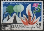 Sellos de Europa - España -  75º Aniversario dl´movimiento Scout