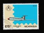 Stamps Nicaragua -  Avión Tu-154