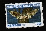 Stamps Nicaragua -  Mariposas nocturnas,Agrius cingulata