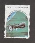 Sellos de America - Nicaragua -  15 Ani. vuelo conjunto Soyuz