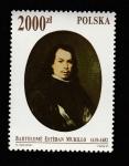 Sellos de Europa - Polonia -  Bartolomé Estbán Murillo, Autoretrato