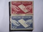 Stamps United States -  Manos y Correspondencia - Entrega Especial.