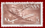Stamps Spain -  Edifil 1177 Superconstellation 5 aéreo