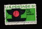 Stamps United States -  Detener los accidentes de tráfico