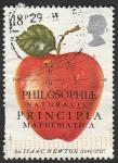 Sellos de Europa - Reino Unido -  1260 - Una manzana, III Centº de la publicacion por Isaac Newton, de la ley de la gravedad