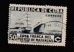 Sellos de America - Cuba -  Zona Franca del puerto de Matanzas