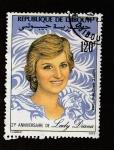 Stamps Djibouti -  21 Aniversario Princesa Diana