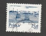 Stamps Poland -  Grabado de Danzig en el siglo  XVIII