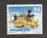 Stamps Switzerland -  Auto de juguete