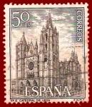 Stamps Spain -  Edifil 1542 Catedral de León 0,50