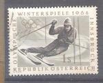 Sellos del Mundo : Europa : Austria : RESERVADO CHALS J.O. de invierno ,Innsbruck Y974 slalom