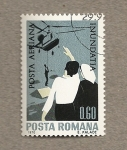 Stamps Romania -  Salvamento personas de inundaciones